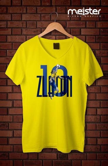 Remera De Zlatan Ibrahimovic (diseño Exclusivo De Meister)