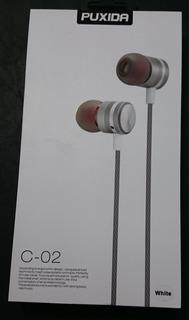 Auriculares Puxida C-02 Stereo Blancos Cable Trenzado