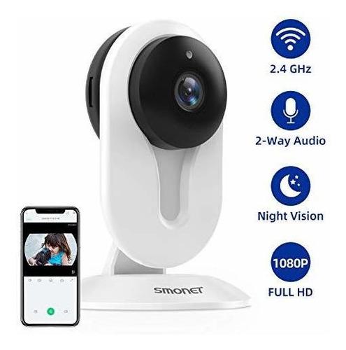 VBESTLIFE C/ámara IP Vigilancia Inal/ámbrica de Seguridad para el Hogar 1080P WiFi IR Monitor de Beb/é Visi/ón Nocturna 2 V/ía Intercomunicador de Audio Soporte para Android Apple EU.pulg