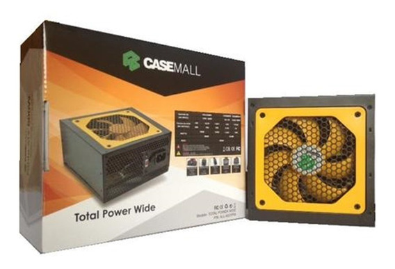 Casemall All-500tpw Total Power Wide Desktop Pc Gamer