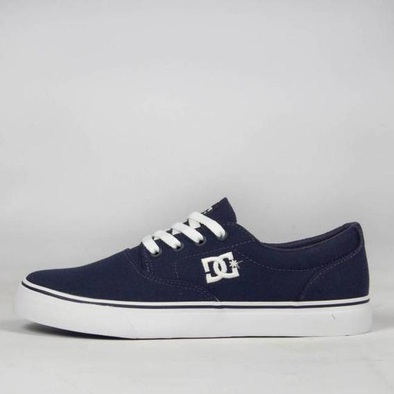Tênis Dc Shoes New Flash 2 Tx Navy/white Original