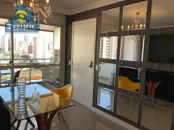 Apartamento Com 4 Dormitórios À Venda, 128 M² Por R$ 780.000,00 - Centro - Santo André/sp - Ap8725