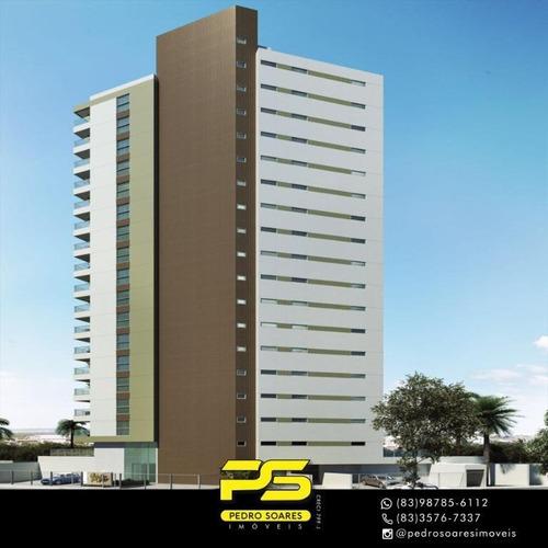 Apartamento Com 3 Dormitórios À Venda, 93 M² Por R$ 430.000 - Brisamar - João Pessoa/pb - Ap3138