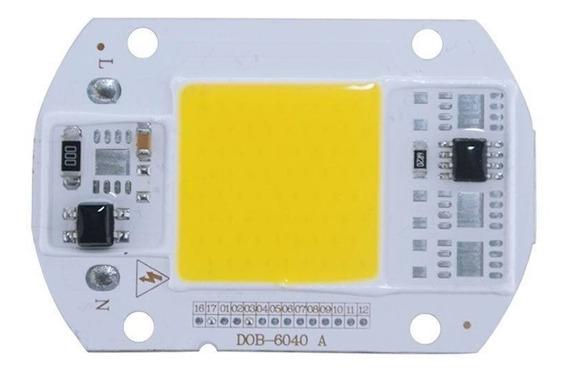 Led 50w Chip Cob 110v Faro Reflector + Pasta Termica Gratis