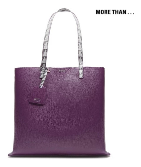 Shopping Bag Minimal Triangle Purple. Bolsa Schutz Origina