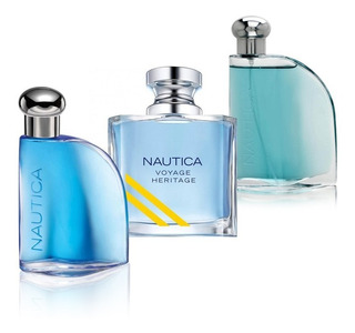 Paquete 3 Perfumes Nautica Voyage Heritage + Blue + Classic