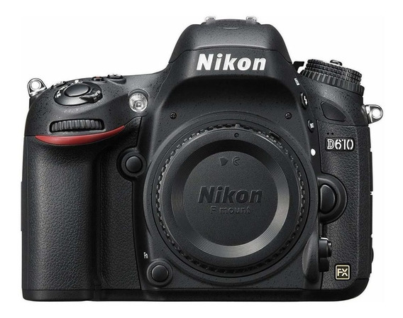 Nikon D610 DSLR color negro