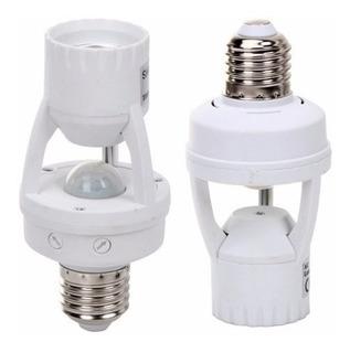 2 Un Sensor De Presença C/ Soquete E27 Bocal Automação