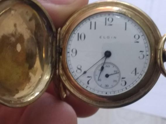 Reloj De Bolsillo Elgin Antiguo 1911 D Colección Funcionando