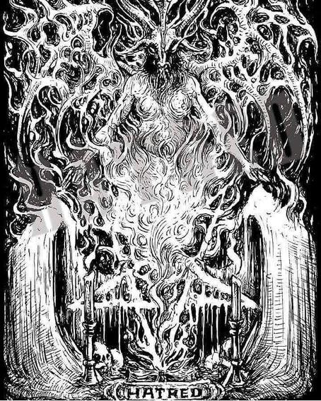 Camiseta Hatred Store Baphomet Metal