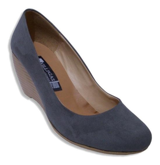 Zapato Tacon 6cm Puente Muy Comodo Liso Durable J Villegas
