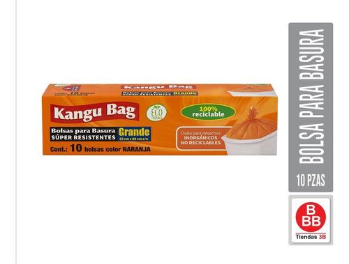 Imagen 1 de 3 de Bolsa Para Basura Grande Kangu Bag, 10 Pzas