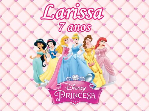 Kit Festa Infantil Personalizada Princesas Com Sacola