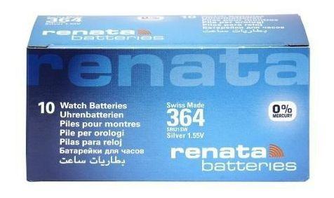 Kit Pilha Bateria 364, Relógio 1.55v Renata Sr621s Original 100 Unid.