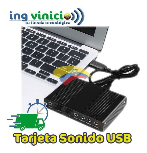 Tarjeta De Sonido Usb 2.0 5.1 Conector Optico Spdif Mic In