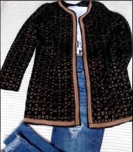 Saco Largo  Rapsodia S Totalmente Bordado Azul India Velvet
