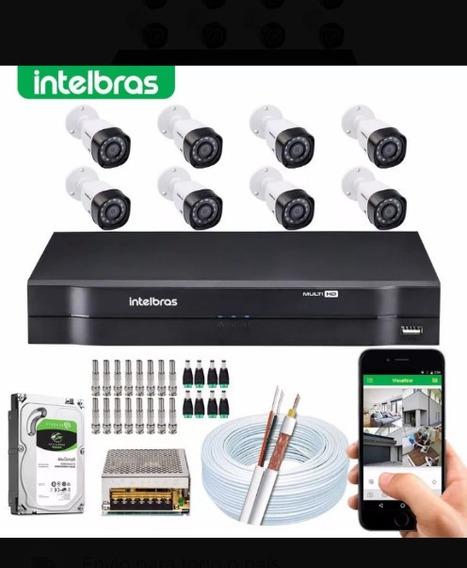 Kit Completo Cftv Intelbras 8 Câmeras