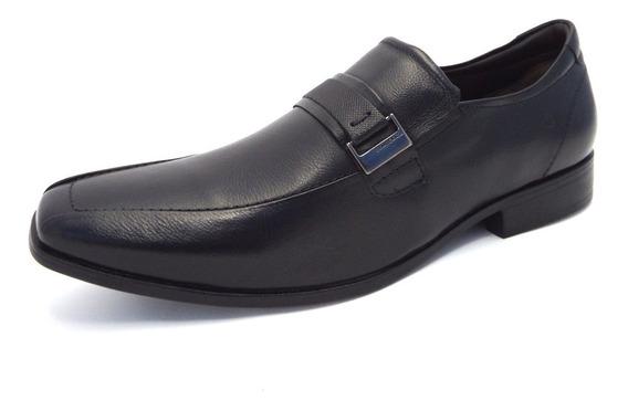 Sapato Masculino Casual Democrata Couro Sem Cadarço - Cosmo Flex Strech 013113