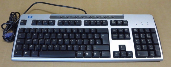 Kit 11 Teclado Ps2 Hp Kb-0133 Prata