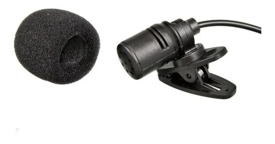 Mini Microfone De Lapela 3.5mm Com Clip Prendedor Kp 911