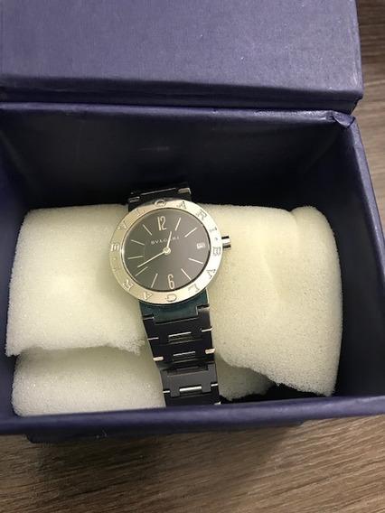 Relógio De Pulso Feminino Bvlgari Todo Em Aço J17292