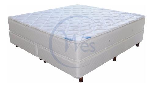 Colchon Y Somier Queen 1.6x1.9 Doble Pillow, Morpheus, Wes C