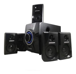 Home Theater 5.1 Usb Sd Bluetooth Panacom 1662 Aux Pc Tv Fm