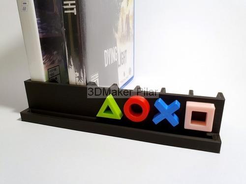 Soporte Organizador Para 8 Cajas Dvd Bd Bluray Juegos Playstation Ps4 Ps3 Xbox Gamer 3d - Excelente Calidad!