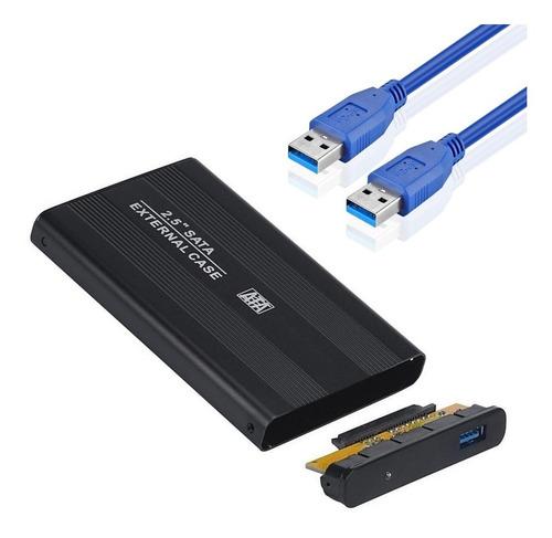 Imagen 1 de 10 de Carry Carrier Disk Usb 3.0 Sata Case Disco Rigido 2.5 + Kit