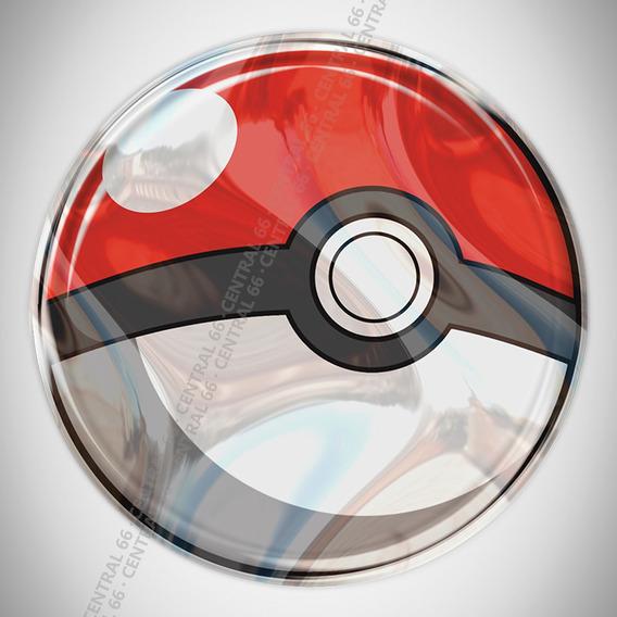 Adesivo Desenho Pokemon Pokebola Resinado