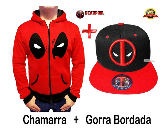 Gorra Bordada Dead Pool + Deadpool Marvel Sudadera Chamarra