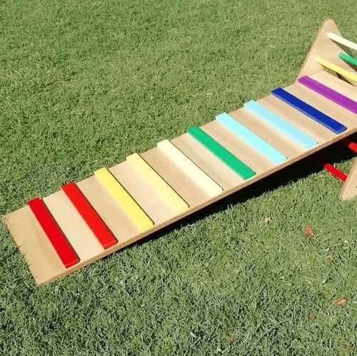 Imagen 1 de 4 de Trepador Rampa Arcoíris - Juegos Para Niños Lakalumba
