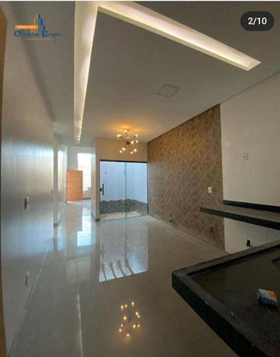 Imagem 1 de 17 de Casa Com 3 Dormitórios À Venda, 144 M² Por R$ 550.000,00 - Vila Santa Isabel - Anápolis/go - Ca1951