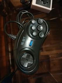 2 Controles Sega Genesis 6 Botones Negro