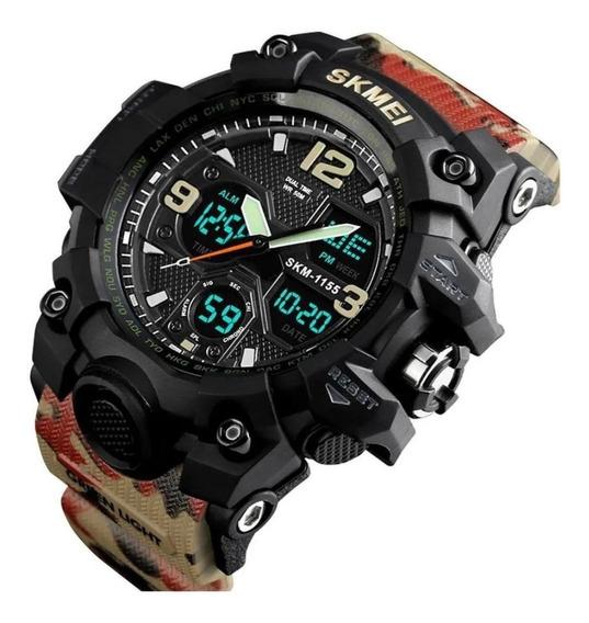 Relógio Skmei 1155b Militar Digital Analógico Aprova D