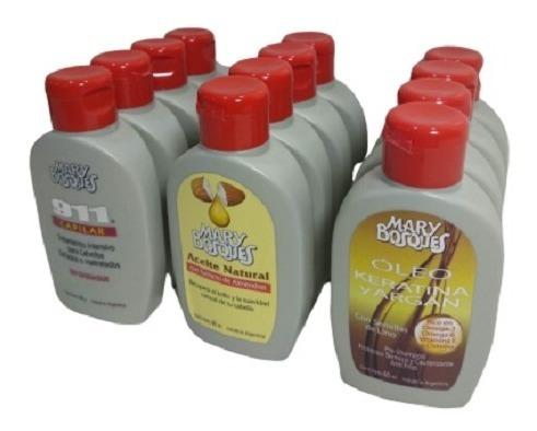 Mary Bosques Kit Capilar X 12 Unidades (aceite+keratina+911)