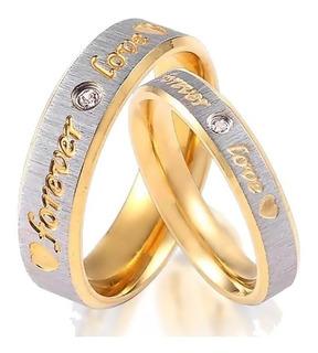 Par Argollas De Matrimonio Enchape De Oro Con Envio A01