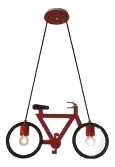 Pendente Bicicleta Vermelho Para Quarto Infantil