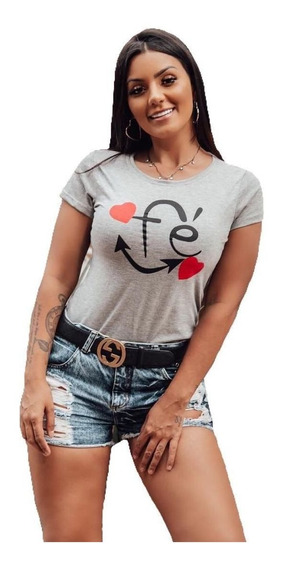 Camiseta Blusa T Shirt Feminina. Kit Com 10 Peças