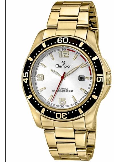 Relógio Champion Masculino Dourado Ca30132h