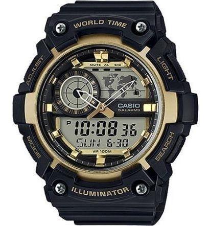 Relógio Casio Aeq-200w-9avdf - Produto Com Uma Cor Preto