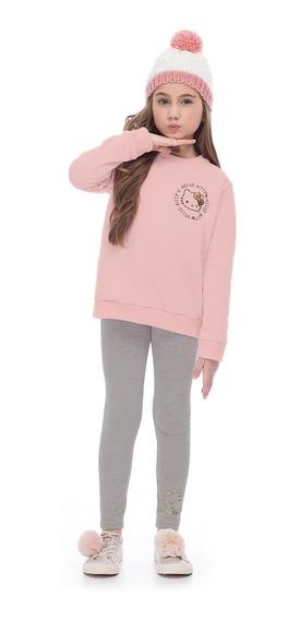 Blusão Infantil Moletom Hello Kitty