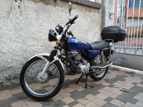 Moto Titania Sport 125 C.c Azul, Cromada, Placa Par