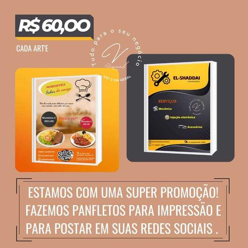 Serviço De Design Gráfico- Panfletos Impressos E Digital