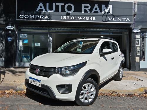 Fiat Mobi 1.0 Way Blanco 2017 Financio Permuto