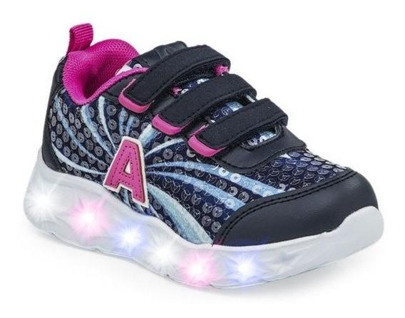 Zapatillas Addnice Starlight Con Velcro Azu 25-29 De Niños