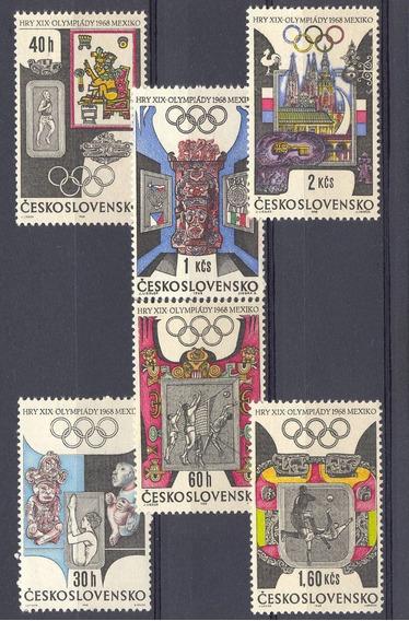 Checoslovaquia 1968 Juegos Olimpicos Mexico Completa Mint