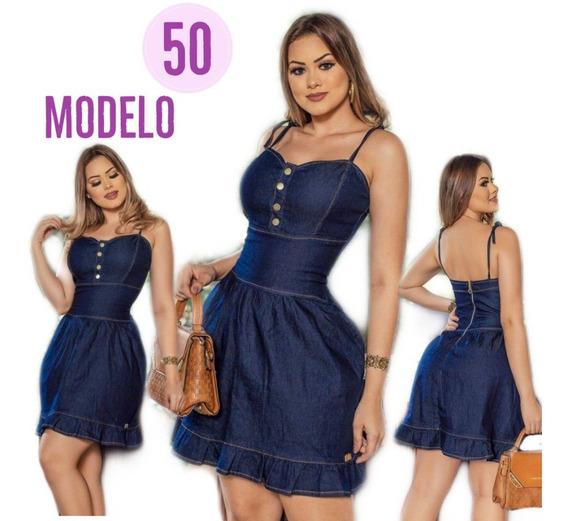 Vestido Jeans Lycra Peça Indispensável Do Guarda-roupa Ref 4