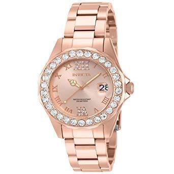 Relógio Invicta Feminino Pro Diver, Ouro Rosé Modelo 15253