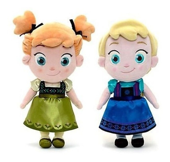 Frozen Ana Y Elsa Muñecas Peluche 25cm